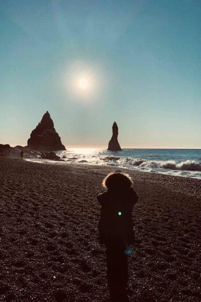 Islândia: praia de Reynisfjara
