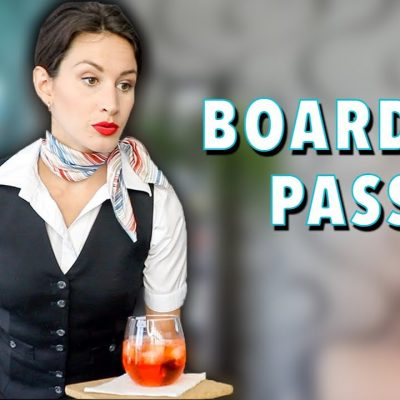 Quando uma comissária de bordo trabalha em casa…