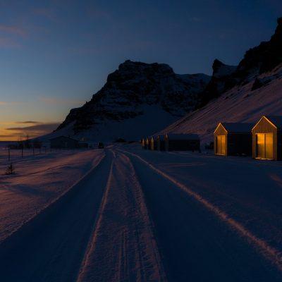 Um pôr-do-sol na Islândia