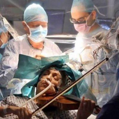 Violinista foi operada ao cérebro enquanto tocava