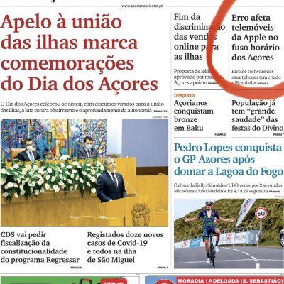 Apple: O erro nos Açores (a solução!)
